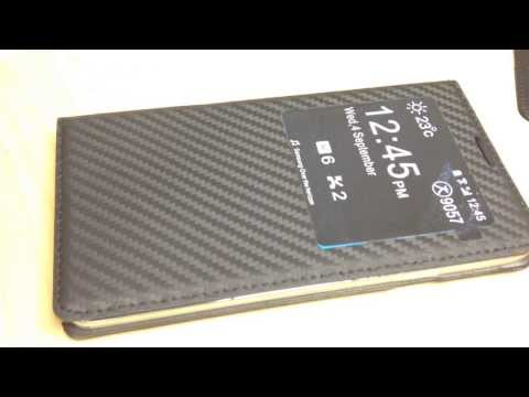 Smart Cover note 3 carbon fiber