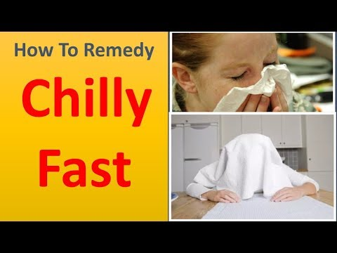 How to remedy a chilly Fast|Use steam treatments