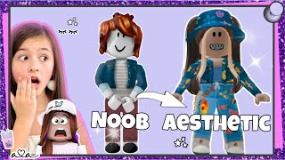 ROBLOX OUTFIT CHALLENGE - von NOOB to AESTHETIC! BILLIG & TEUER 💜 Alles Ava Gaming