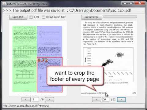 cut2col : Two-column pdf documents cutter and merger