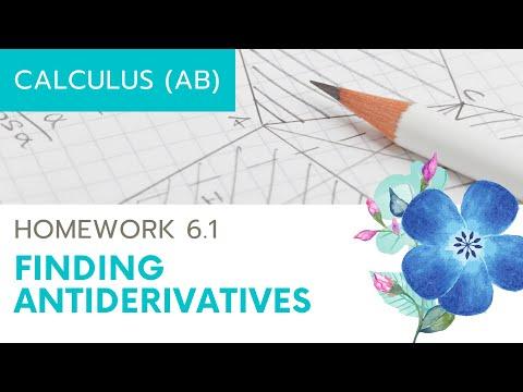 Calculus AB Homework 6.1 Antiderivatives