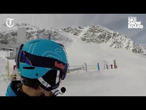 Graham Bell skis the Rochu run in La Plagne