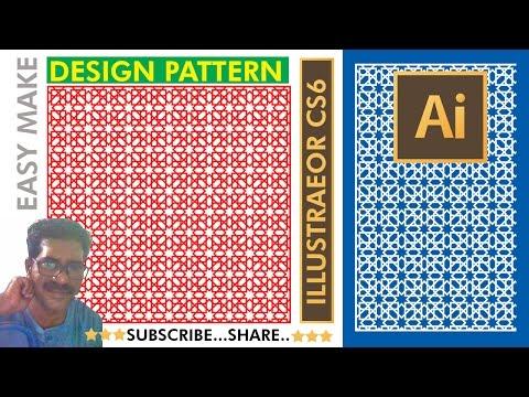 How to make  Easy DESIGN PATTERN ( Islamic Design) with Illustrator cs6