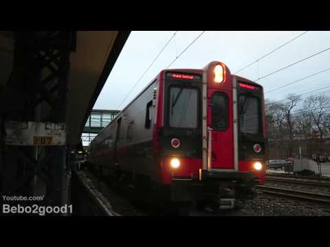 Metro-North Railroad & Amtrak Saturday Trains at Rye, NY RR (60FPS)
