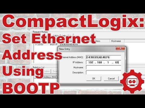 CompactLogix, set Ethernet Address using BOOTP