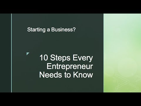 10 Things that you need to start your business