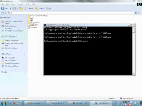 attrib command dos by system-4x
