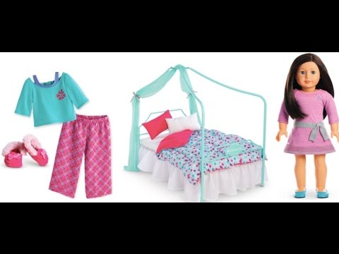 American Girl Truly me Doll Canopy Bedroom Collection Review
