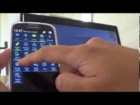 Sharing Samsung Galaxy S4 Internet Hotspot to PC or Laptop