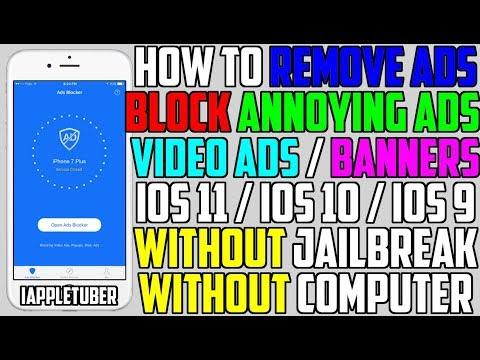 How To Remove / Block Ads FREE iOS 10 - 10.3 & iOS 11 (NO Jailbreak NO Computer) iPhone, iPad, iPod