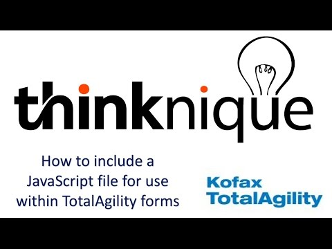 How to Include a JavaScript file in Kofax TotalAgility Forms?