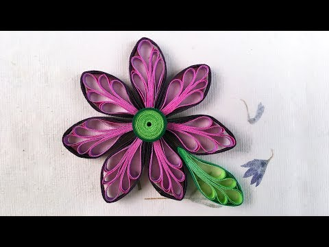 Paper Quilling Art | How To Make Looped Quilling Flowers