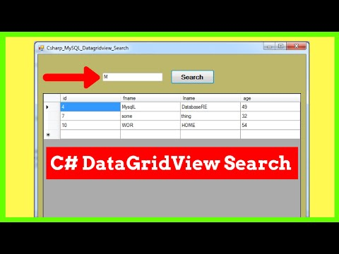C# & MySQL : How To Search / Filter Datagridview Data With TextBox Using C# [ with source code ]