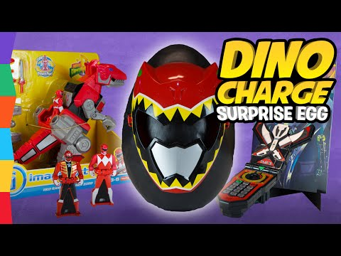 Dino Charge Power Rangers Toys Giant Surprise Egg: Red Ranger Zord Megaforce Morpher Comic by ToyRap