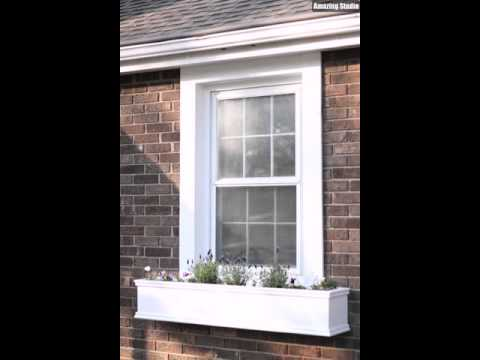 DIY Window Box Planters Filled