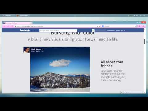 How to get Facebook new design layout 2013