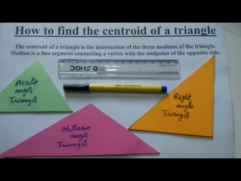 How to find the centroid of a triangle