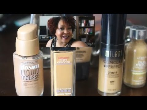 Top 5 drugstore foundations for dry or mature skin | NeeCJae