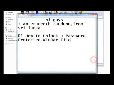 How to Unlock a Password Protected WinRar File