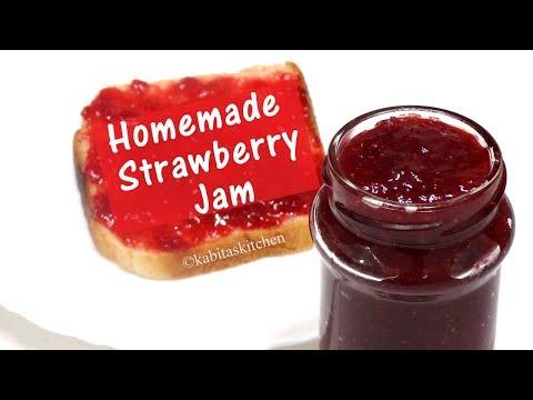 Homemade Strawberry jam Recipe | घर पर बनाए स्ट्रॉबेरी जैम | No preservative Jam | kabitaskitchen
