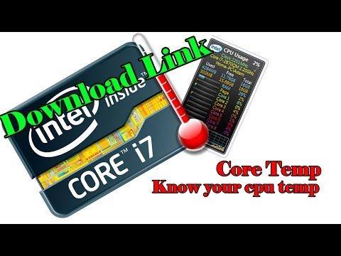 How to  Know Your Cpu Temperature -Windows 7 | Core Temp | Measure CPU Temperature