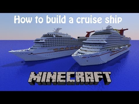 How to build a cruise ship in Minecraft! Part 4- More exterior work!