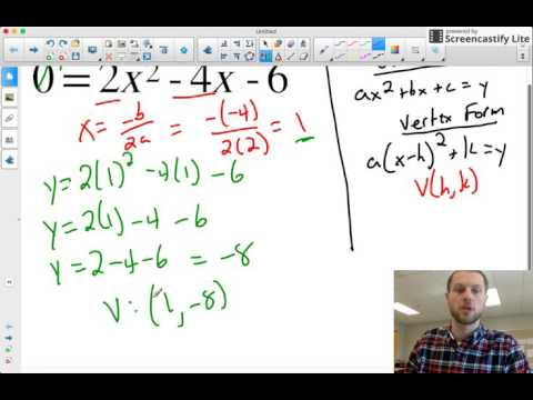 Converting From Standard Form to Vertex Form (without completing the square)