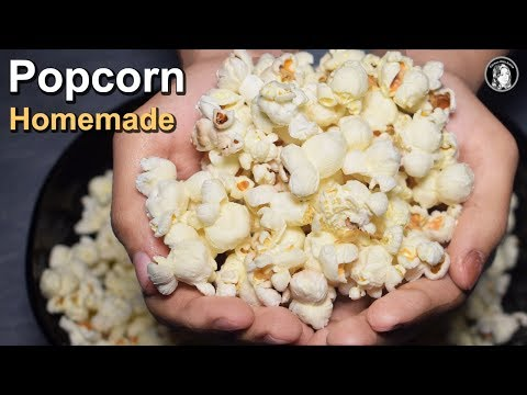 Popcorn Recipe - Homemade Popcorn On Stove - How to make Popcorn - Kitchen With Amna