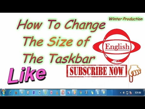 How to Change Icon Size On The Taskbar (Smaller or Bigger) - Windows 7 [ English ]