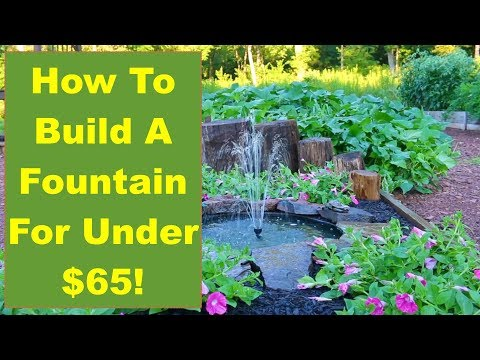 Tips and Ideas on How-to Build a Backyard Fountain for Your Garden or Patio...for Under $65!