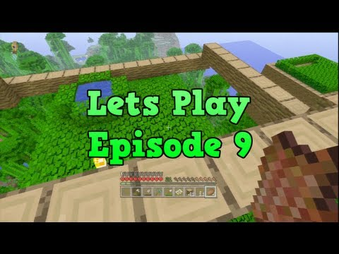 Minecraft Xbox 360 Lets Play #9 Making The Fishing Pond (Fish Farm)