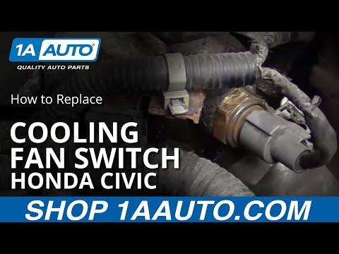 How to Replace Install Coolant Temperature Sensor 2003 Honda Civic 1.7L