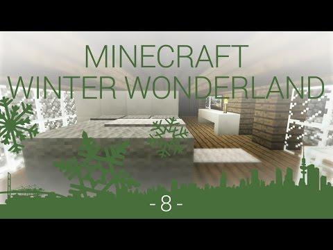 Minecraft Winter Wonderland - EP 8 - bedroom, bathroom and exterior