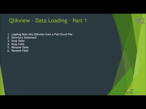 Loading Data into Qlikview | Rename,Drop Fields & Tables in Qlikview | Directory  Key Word # Part 1
