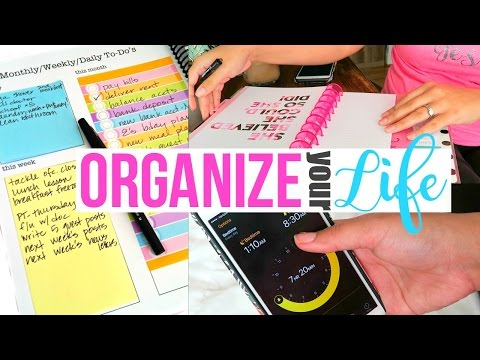 HOW TO ORGANIZE YOUR LIFE!! | 7 TIPS FOR AN ORGANIZED LIFE | Page Danielle