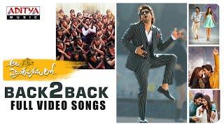 #AlaVaikunthapurramuloo - Back to Back Full Video Songs | Allu Arjun | Trivikram | Thaman S |#AA19