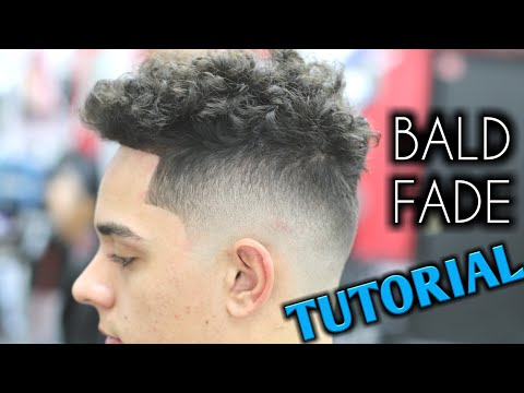 Bald Fade TUTORIAL! Barber | mens curly hair on top