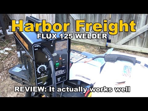 Harbor Freight Flux 125 Welder Review