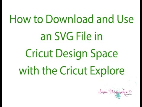 How to download and use an SVG in Cricut Design Space