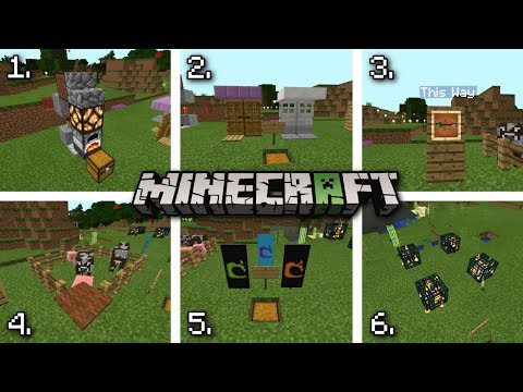 6 SECRET Things You Can Make in Minecraft ! (MCPE, PS4/3, Xbox, Switch, PC)