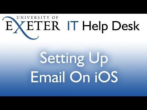 iOS: Setting up your Exeter email and calendar