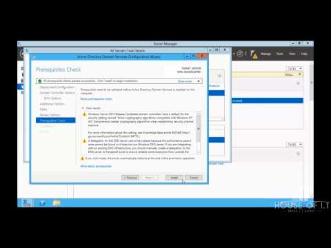 Install Active Directory Domain Controller on Windows Server 2012 R2