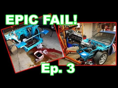 Removing the 5.0 Mustang GT Motor   s13 Budget Build EP 3