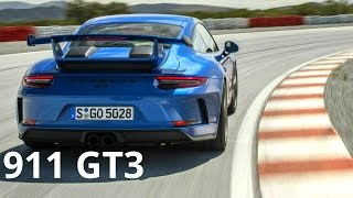 2018 Blue Porsche 911 GT3 - Awesome 500 hp Engine Sound and Track Drive