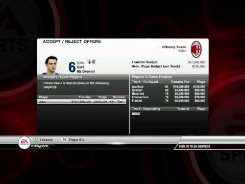 FIFA 12 Career Mode Trick