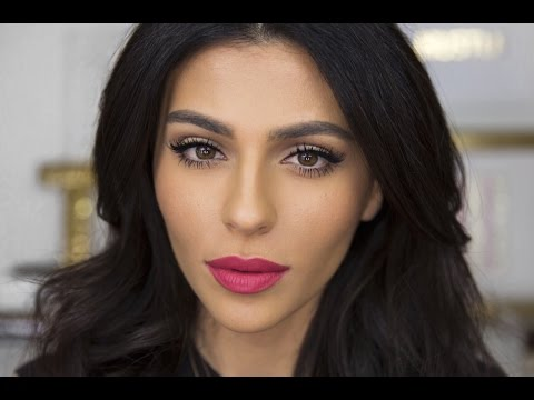 Everyday Cat Eye + Bright Lips | Lipstick Tutorial | Teni Panosian