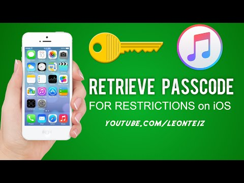 How to Retrieve Restrictions Passcode on all iPhones and iDevices all iOS