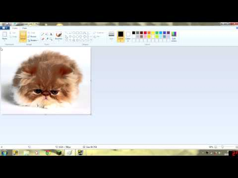 How to Pixelate a picture with Paint!