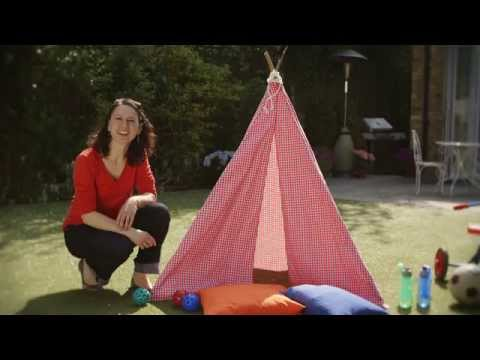 Watch Emma's video on how to make a teepee