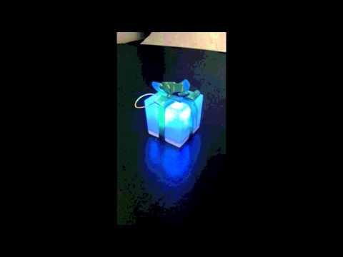 Light Up Gift Box Ornament at Glowsource.com!